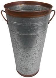Galvanised Vases Amazon Com Hosley U0027s Set Of 3 Galvanized Vases 12