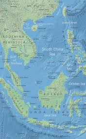 Topographic Map Of The World by Political Map Of South China Sea Nations Online Project