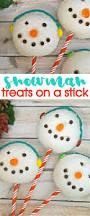winter holiday treats make these diy cute snowman treats on a stick
