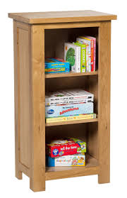 narrow bookcase with drawers waverly oak small bookcase in light oak finish 3 shelf storage