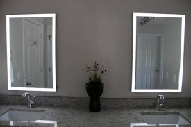 amazon com led illuminated mirror with aluminum frame home u0026 kitchen