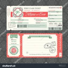 Boarding Pass Wedding Invitations Vintage Boarding Pass Ticket Wedding Invitation Stock Vector