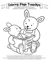 dulemba coloring tuesday reading bunnies