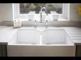 Belfast Sink In Bathroom Double Belfast Sink With Waste Disposal Youtube