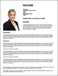 Sample Resume For Job Application by How To Create Web Resumes For Jobs Teaching English Abroad