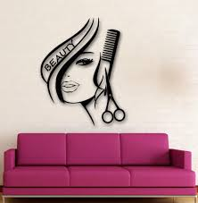 wall stickers vinyl decor hair beauty salon barbershop sexy girl see larger image