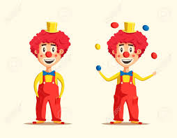 clowns juggling balls happy circus clown illustration juggling balls