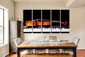 living room canvas 5 piece large pictures violin group canvas piano canvas