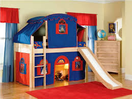 Ikea Bunk Bed Tent Bedroom Amazing Bunk Bed With Slide For Cozy Bedroom Design
