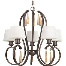 Progress Lighting 5 Light Chandelier Progress Lighting 5 Light Antique Bronze Chandelier P4217 20 The
