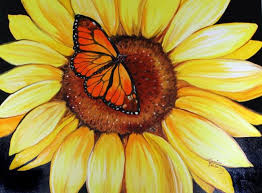 sunflower butterfly by marcia baldwin from florals