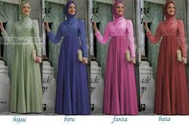 Baju Muslim Brokat baju muslim pesta nesya brokat p705