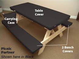 3 piece fitted picnic table bench covers picnic table covers table covers and picnic tables on 3 piece