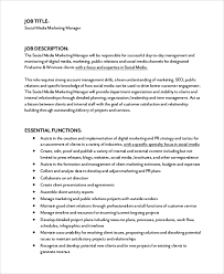 Social Media Resume Example by Social Media Marketing Job Description Canvasser Job Description