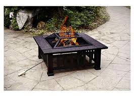 Patio With Firepit Amazon Com Patio Fire Pit With Cover 32 Inch Backyard Fireplace
