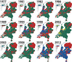 Map Netherlands Dutch Elections 1977 2012 By M Nouws Map Netherlands