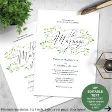 wedding invitations jackson ms greenery invitations greenery wedding printable invitation