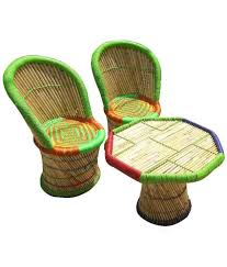 bamboo chair ecowoodies multicolour bamboo chair table set buy ecowoodies
