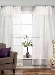 3 Inch Rod Pocket Sheer Curtains Black Rod Pocket W Attached Beaded Valance Sheer Tissue Curtains