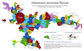 Turkestan Map Population Adjusted Map Of Russian Regions And Crimea Maps Of