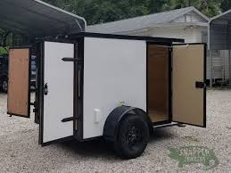Exterior Doors B Q by 5x8 Sa Trailer White Barn Doors Blackout Package Two Side