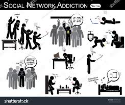 Home Design Social Network Social Network Addiction Man Use Smartphone Stock Vector 350459423