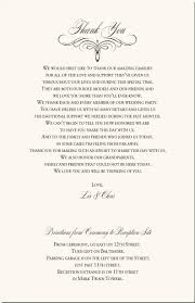 wedding thank yous wording flourish heart wedding program exles wedding program wording
