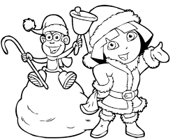 smartness ideas dora and boots coloring pages dora to download