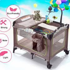 baby portable crib folding bed children travel cot bed 2 layers