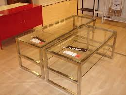Oak And Glass Side Table Coffee Table Awesome Silver And Glass Coffee Table Brass And