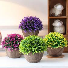 popular potted artificial grass buy cheap potted artificial grass artificial plastic leaves orchid grass plants potting home bonsai potted decor 4 colors pick china