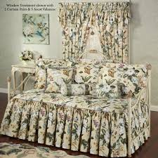 Comforter Sets For Daybeds Garden Images Iii Ruffled Flounce Floral Daybed Set Bedding