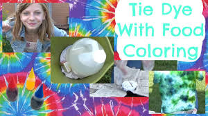 tie dye with food coloring ommygoshtv youtube