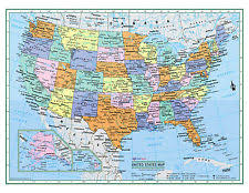 political us map united states map ebay