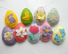 felt easter eggs felt easter decoration felt egg with bunny or flowers