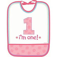 1st birthday bib amscan pink 1st birthday bib girl baby