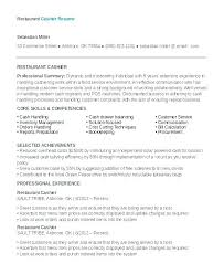 restaurant server resume professional restaurant server resume