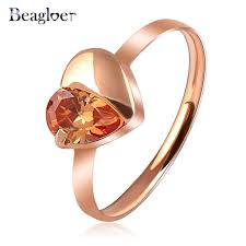 aliexpress buy beagloer new arrival ring gold beagloer hot selling ring simple gold color austrian