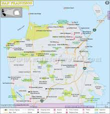 san francisco map of usa san francisco map detailed map of san francisco city ca
