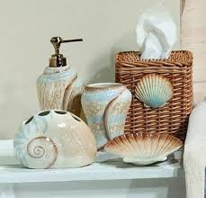 Ideas For Bathroom Decorating Themes by Beach Inspired Bathroom Accessories Seafoam Serenity Coastal