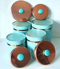 copper kitchen canister sets light blue kitchen canisters blue kitchen canister sets vintage