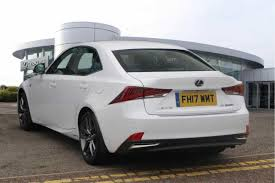 lexus used glasgow used 2017 lexus is 300h f sport 4dr cvt auto for sale in