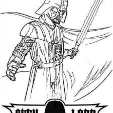 terrifying darth vader light saber star wars coloring