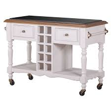 kitchen island trolley hton kitchen island trolley w wine rack white buy kitchen