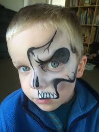 Skeleton Face Painting For Halloween by Starlets Facepainting Face Paint Skulls Pinterest Face