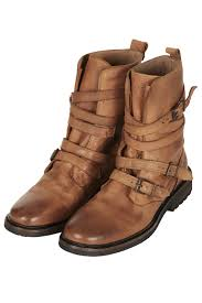 motorcycle boots buckle topshop arrested buckle biker boots in brown lyst