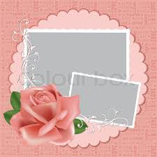 photo frame cards blank wedding photo frame postcard or greetings card stock