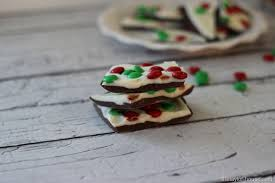 chocolate vanilla christmas bark topped with candy the taylor house