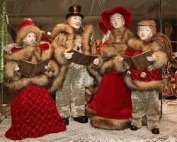 carolers decorations lights card and decore