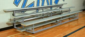 galvanized steel easy store indoor bleachers bison inc